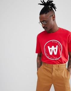 Красная футболка с большим логотипом Wood Wood Seal - Красный