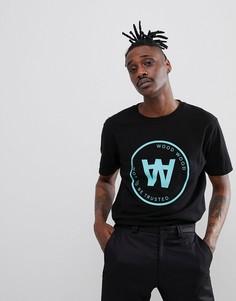 Черная футболка с большим логотипом Wood Wood Seal - Черный