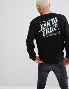 Черный свитшот с принтом Santa Cruz - Черный