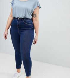 Выбеленные джинсы скинни New Look Curve - Синий