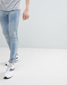 Голубые джинсы скинни с контрастной отделкой ASOS DESIGN - Синий