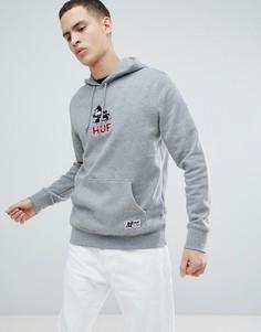 Худи серого цвета HUF x Felix The Cat Skateboard - Серый