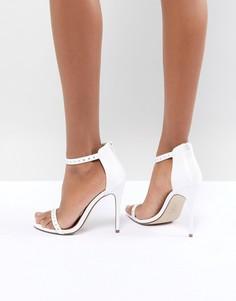 Босоножки на высоком каблуке с заклепками New Look - Белый