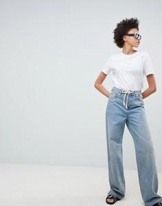 Свободные джинсы с веревочным поясом ASOS DESIGN - Синий