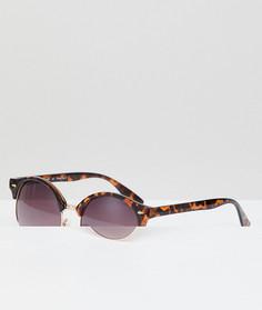 Солнцезащитные очки в стиле ретро с черепаховой оправой AJ Morgan - Коричневый