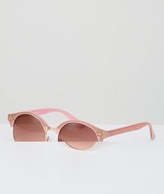 Розовые солнцезащитные очки в стиле ретро с блестками AJ Morgan - Розовый