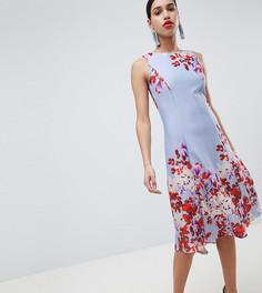 Приталенное платье миди с принтом True Violet - Мульти