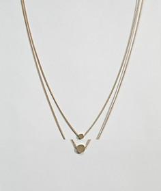 2 ожерелья с дисками ASOS DESIGN - Золотой