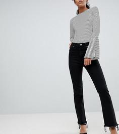 Черные расклешенные джинсы с необработанным краем ASOS DESIGN Tall - Черный