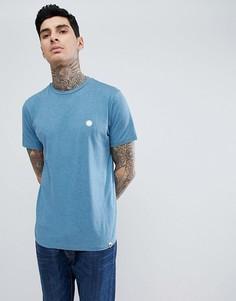 Синяя меланжевая футболка с логотипом Pretty Green Mystic - Синий