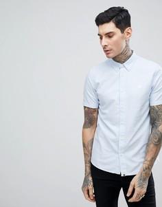 Синяя оксфордская рубашка с короткими рукавами Pretty Green Stearling - Темно-синий