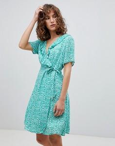 Платье с принтом и запахом Suncoo - Зеленый