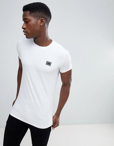 Белая футболка с металлической нашивкой Antony Morato - Белый