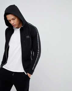 Черная куртка с капюшоном и полосками по бокам Antony Morato - Черный