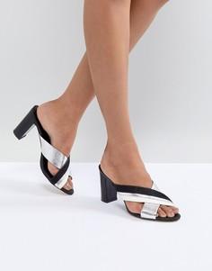 Кожаные сандалии с перекрестными ремешками Suncoo - Черный