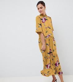 Свободное платье с цветочным принтом Y.A.S - Мульти