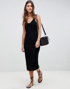 Ажурное платье макси ASOS DESIGN - Черный