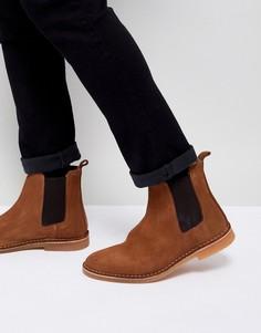 Замшевые ботинки челси Selected Homme - Рыжий