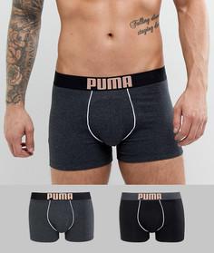 2 черных боксеров с принтом Puma Rebel 581007001087 - Черный