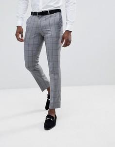 Серые брюки в клетку Burton Menswear - Серый