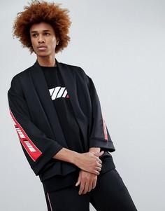 Рубашка-кимоно с логотипом на ленте Antimatter - Черный