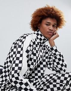 Спортивная куртка с шахматным принтом Antimatter - Черный