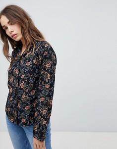 Рубашка с цветочным принтом STYLENANDA - Черный