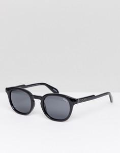 Круглые черные солнцезащитные очки Quay Australia Walk On - Черный