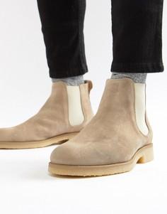Светло-серые замшевые ботинки челси River Island - Серый