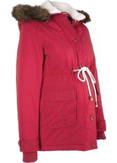 Зимняя куртка для беременных (темно-красный) Bonprix