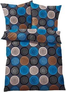 Постельное белье Круги, джерси (синий) Bonprix