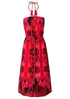 Платье в стиле бандо (ярко-розовый с узором) Bonprix