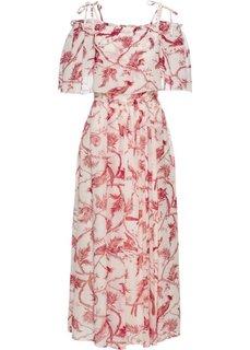 Платье (белый/красный с рисунком) Bonprix