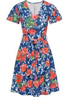 Платье с цветочным принтом (синий/красный в цветочек) Bonprix