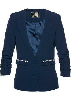 Пиджак с драпированными рукавами (темно-синий) Bonprix