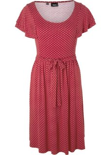 Праздничная мода для беременных: платье в горошек (темно-бордовый в горошек) Bonprix