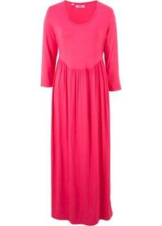 Трикотажное платье с рукавом 3/4 (ярко-розовый) Bonprix
