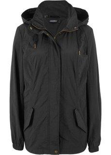 Куртка легкая с капюшоном (черный) Bonprix