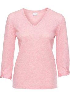 Пуловер с узлами на рукавах (розовый леденец) Bonprix