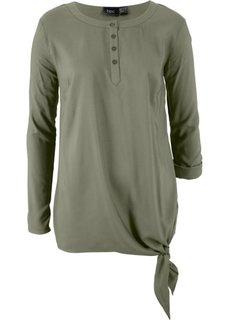 Блузка из вискозы с длинным рукавом (оливковый) Bonprix