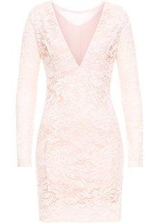 Платье вечернее с кружевом (нежно-розовый) Bonprix
