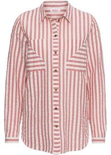 Блузка с длинным рукавом (розовый/белый) Bonprix