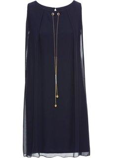 Платье с аксессуаром (темно-синий) Bonprix