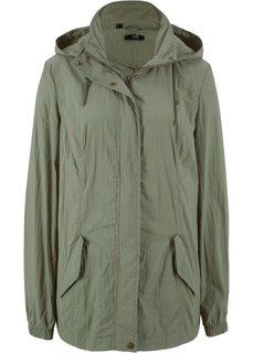 Куртка легкая с капюшоном (оливковый) Bonprix