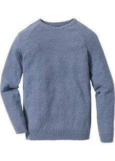 Пуловер Slim Fit (синий матовый) Bonprix