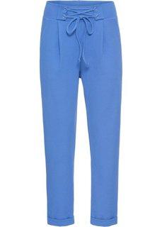 Брюки на шнуровке (синий) Bonprix