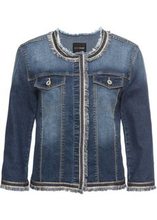 Куртка джинсовая с бахромой (темный деним) Bonprix