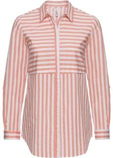 Блузка в полоску (нежно-коралловый/белый в полоску) Bonprix