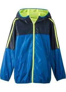 Куртка легкая спортивная с капюшоном (синий/желтый неон) Bonprix