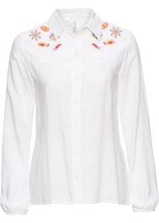 Блузка с вышивкой (белый) Bonprix